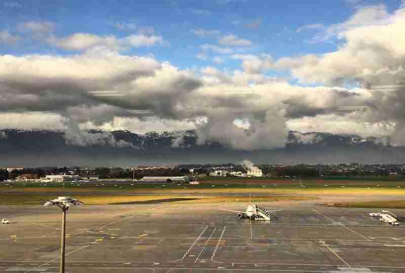 View of Geneva Airport from IATA Headquarters, © FCMedia 2015