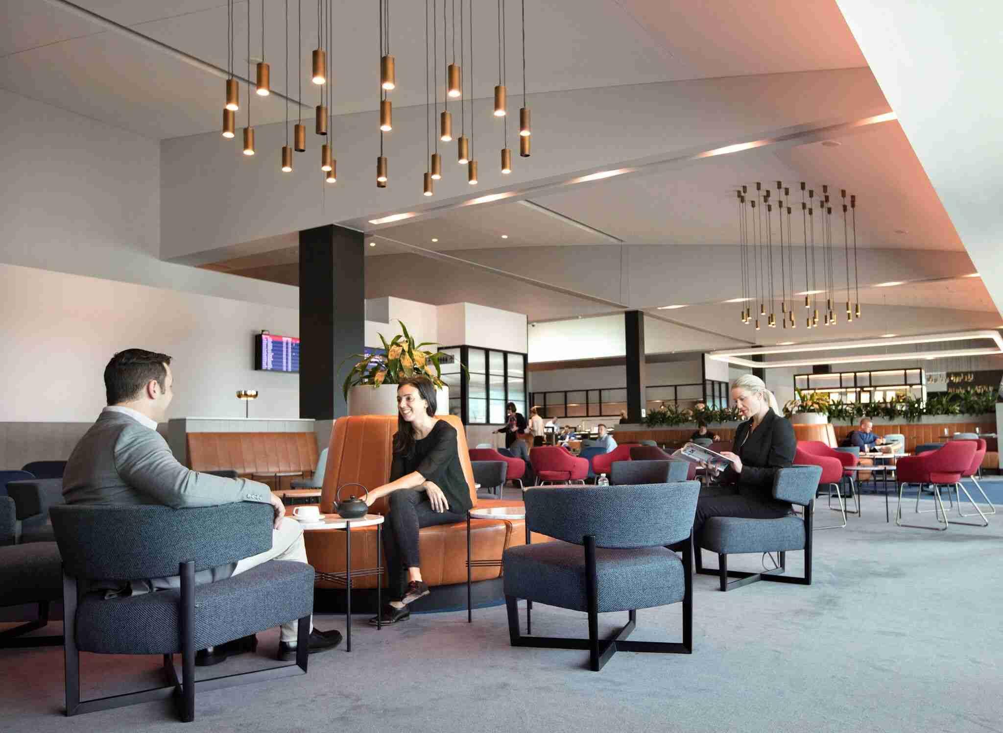 Qantas Business Lounge Melbourne Source: Qantas